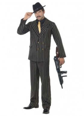 Pinstripe Gangster Suit