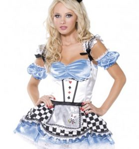 Fever Boutique Sweet Alice 4 Piece Costume