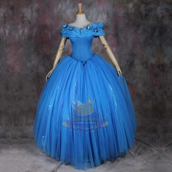 Cinderella Costume 2017 Floor Length Back