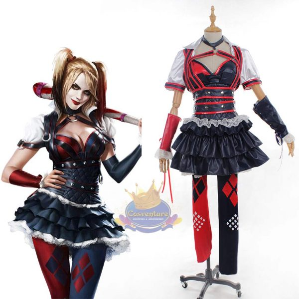 Custom Made Harley Quinn Dress From Batman Arkham Knight  sc 1 st  Cosventure : harley quinn costumes for women  - Germanpascual.Com