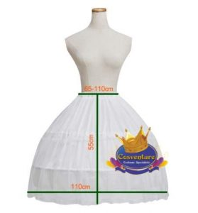2 Hoop Petticoat 110cm wide 55cm length watermarked