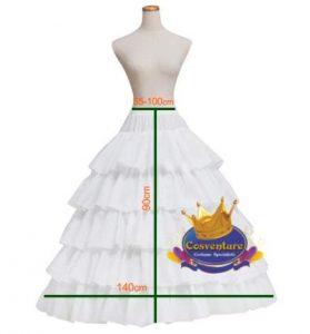 4 Hoop Petticoat 140cm Width 90cm Length Watermarked