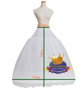 6 Hooped Petticoat 175cm Width 105cm Length Watermarked