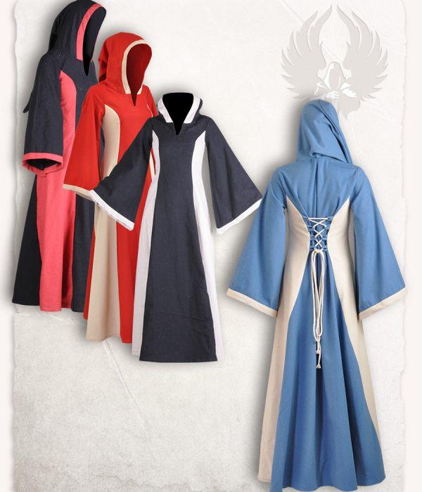 e3ecd84ac94c Mytholon Iris Hooded Dress Light Blue/ Cream XL | Cosventure