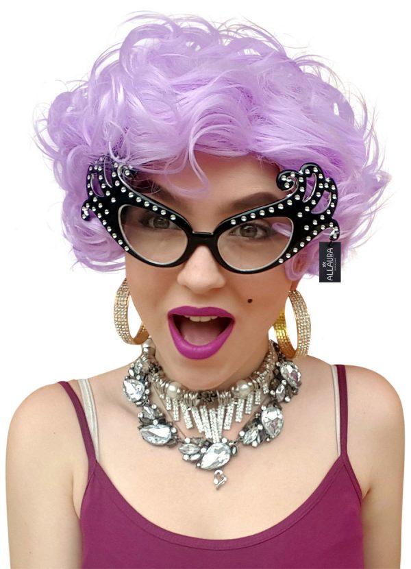 Dame Edna Purple Wig