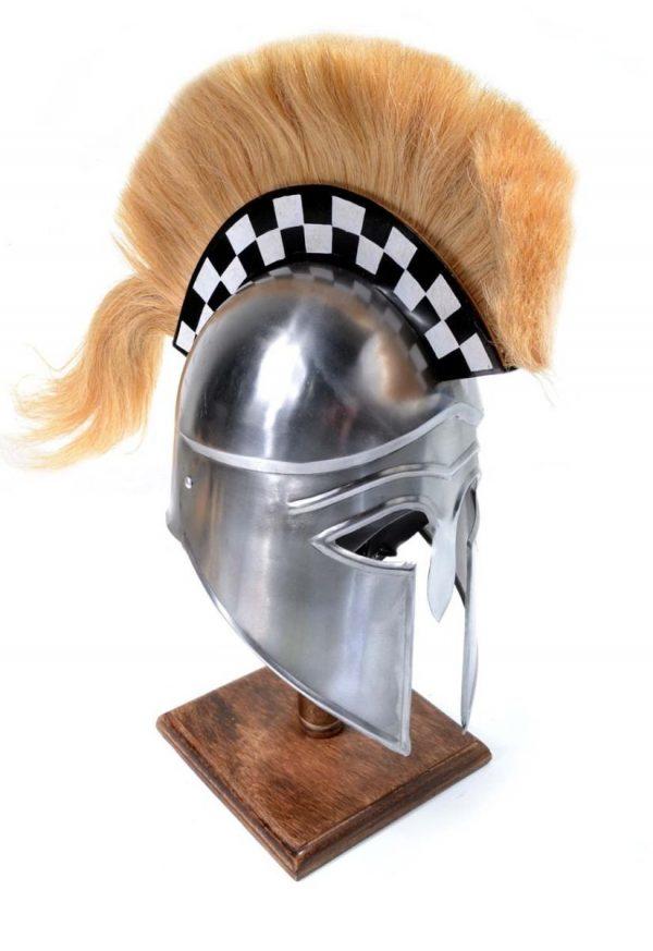 Silver Corinthian Helm