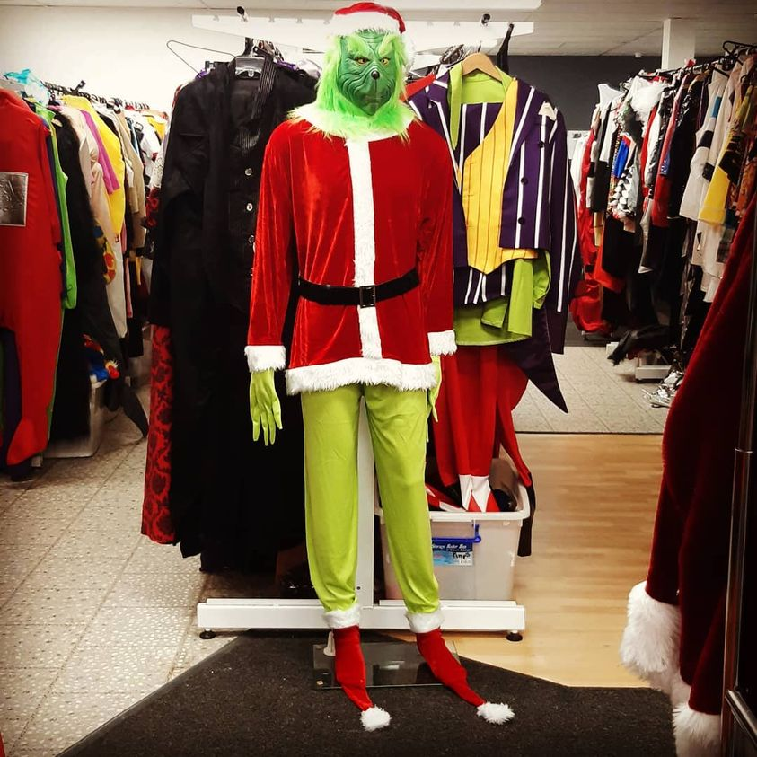 Grinch costumes are now in stock!