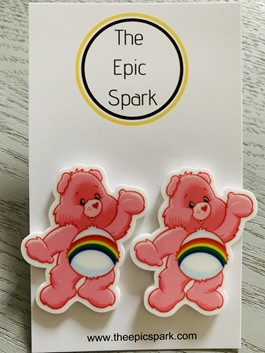 Care Bears Stud Earrings - Cheer Bear