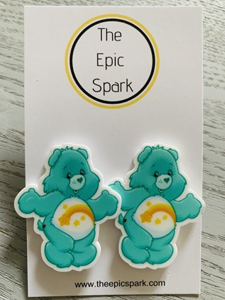 Care Bears Stud Earrings - Wish Bear