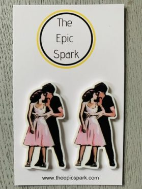 Dirty Dancing Baby and Johnny Stud Earrings