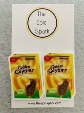 Golden Gaytime Stud Earrings