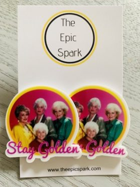 Golden Girls - Stay Golden Stud Earrings