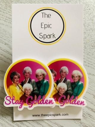 Golden Girls - Stay Golden Stud Earrings