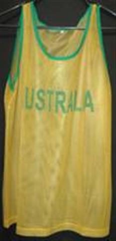 Green and Gold Aussie Singlet