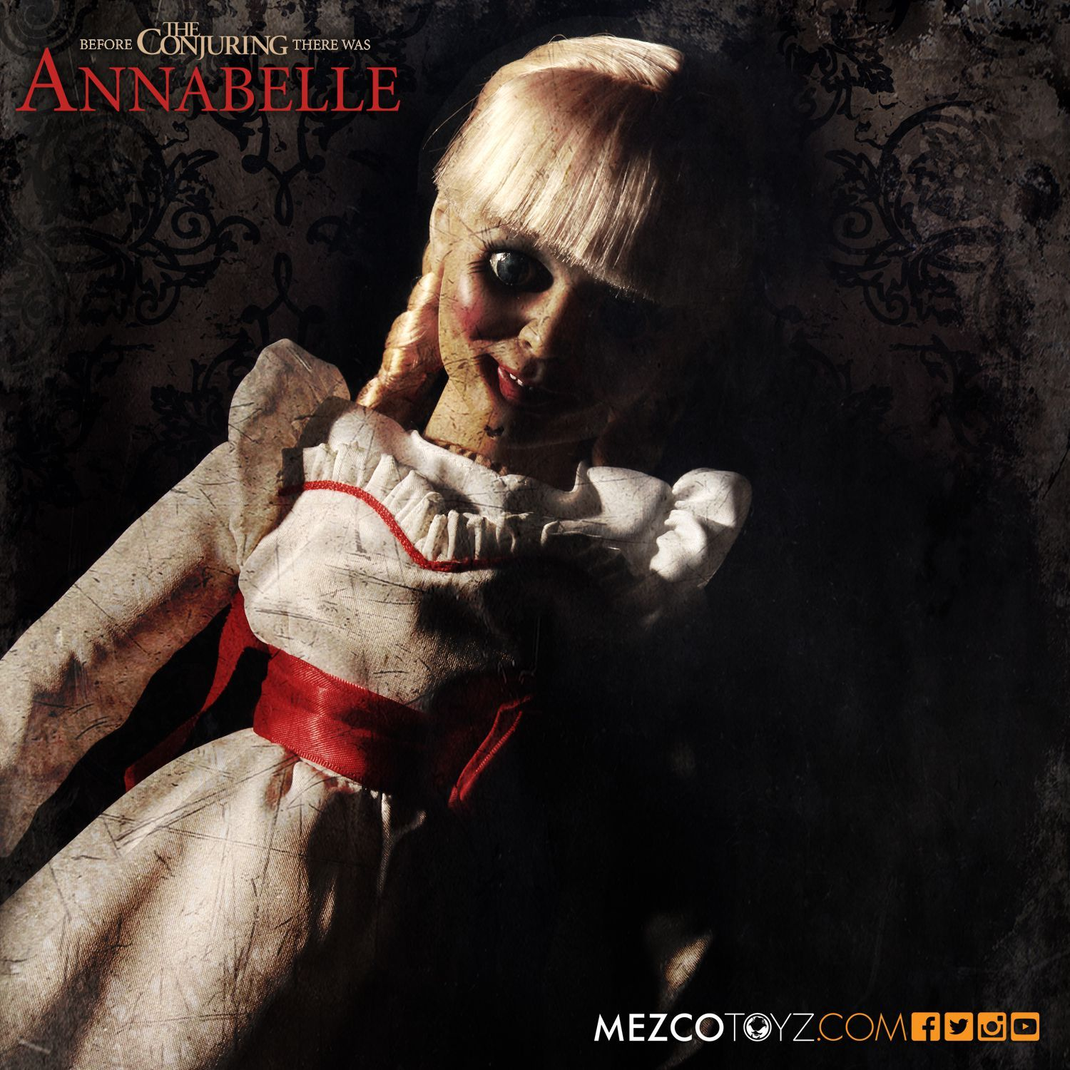 MEZ90500--The-Conjuring-Annabelle-Prop-Replica-Doll