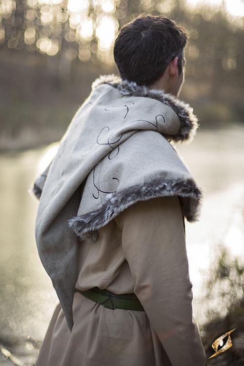 Fur Hood Beige Medium