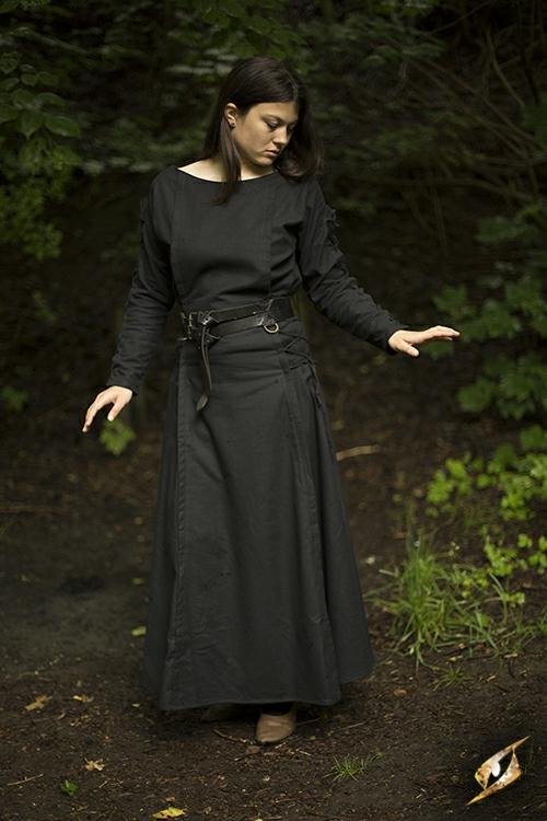 Priestess Dress Black Medium