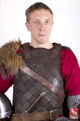 RFB Leather Viking Armour Brown Large