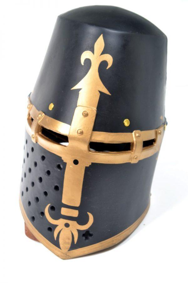 GEN III Black Teutonic Knights Templar Helmet