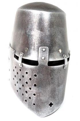 GEN III Silver Teutonic Knights Templar Helmet