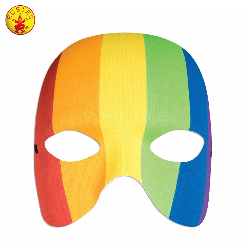 Half Mask - Rainbow Adult