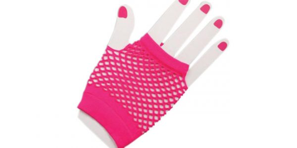 Hot Pink Fishnet Gloves Cosventure