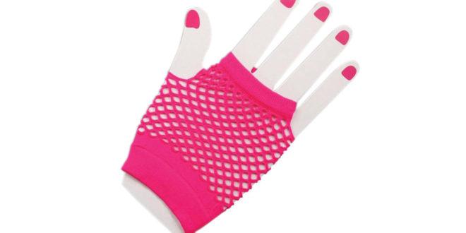 Hot Pink Fishnet Gloves Cosventure