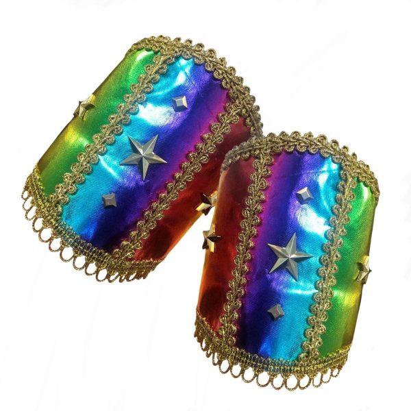 Rainbow Wrist Cuffs