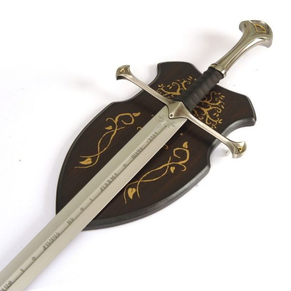 LOTR Anduril Sword of Aragorn w Wall Plaque