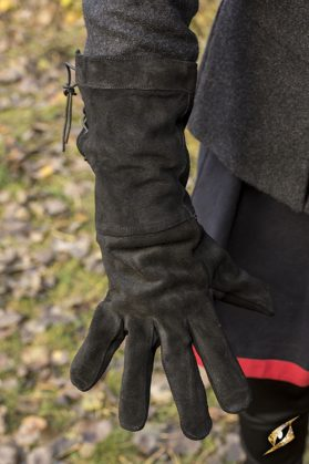 Black Suede Leather Glove Large