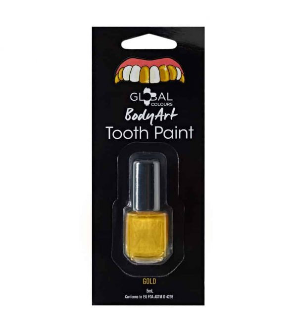 Global Colours Tooth Paint Gold